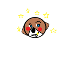 Perverse dog sticker #12861741