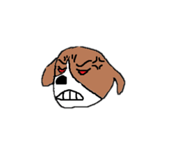Perverse dog sticker #12861762