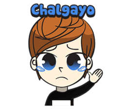 Chibi Kpop Korean Fanboy sticker #12864108