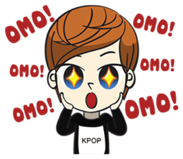 Chibi Kpop Korean Fanboy sticker #12864119