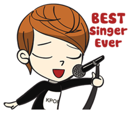 Chibi Kpop Korean Fanboy sticker #12864123