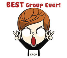 Chibi Kpop Korean Fanboy sticker #12864124