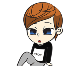 Chibi Kpop Korean Fanboy sticker #12864130