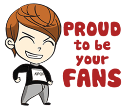 Chibi Kpop Korean Fanboy sticker #12864137