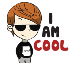 Chibi Kpop Korean Fanboy sticker #12864139