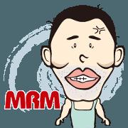 สติ๊กเกอร์ไลน์ MRM-Moustache residue man