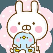 สติ๊กเกอร์ไลน์ Rabbit Usahina 365days