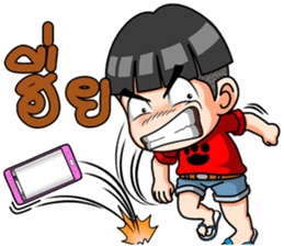 Young red shirt sticker #12871192