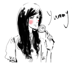 Han Style girls sticker #12872747