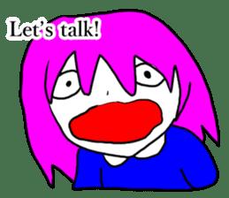 Many hair girl(mild) sticker #12873594