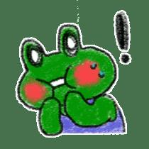 Lovely Frog Sticker sticker #12880147