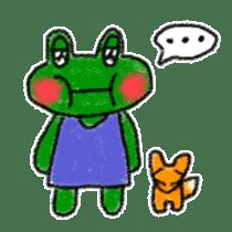 Lovely Frog Sticker sticker #12880148