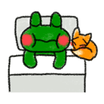 Lovely Frog Sticker sticker #12880152