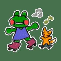 Lovely Frog Sticker sticker #12880162