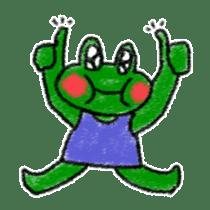 Lovely Frog Sticker sticker #12880163
