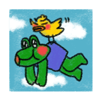 Lovely Frog Sticker sticker #12880179