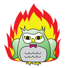 Little Owl of Myanmar sticker #12883685
