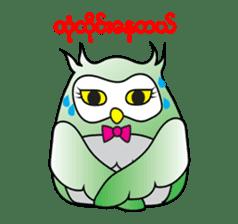 Little Owl of Myanmar sticker #12883687