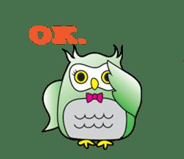 Little Owl of Myanmar sticker #12883704