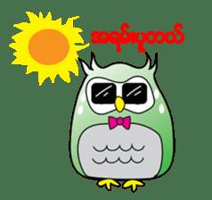 Little Owl of Myanmar sticker #12883708