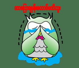 Little Owl of Myanmar sticker #12883714