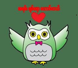 Little Owl of Myanmar sticker #12883717