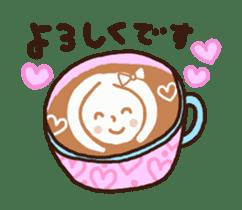 Hot cappuccino sticker3 sticker #12883967