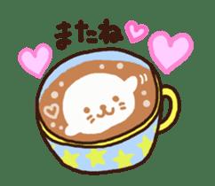 Hot cappuccino sticker3 sticker #12883969