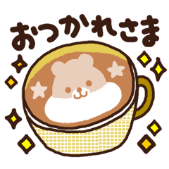 Hot cappuccino sticker3