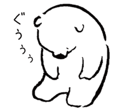 shirokumaza sticker #12887898
