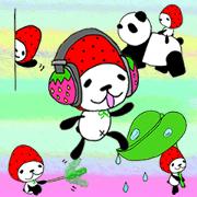 สติ๊กเกอร์ไลน์ STRAWBERRY PANDA Part 10