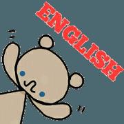 สติ๊กเกอร์ไลน์ A bear and english
