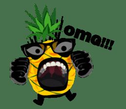 Happy Pineapple sticker #12905103