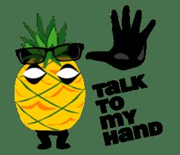 Happy Pineapple sticker #12905115