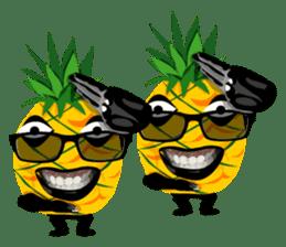 Happy Pineapple sticker #12905116