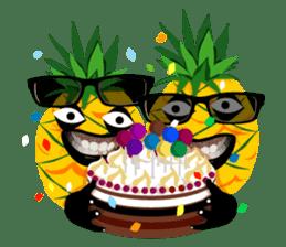 Happy Pineapple sticker #12905125