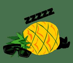 Happy Pineapple sticker #12905141
