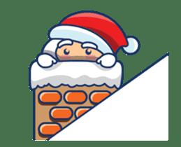 Animated Cute Santa Claus sticker #12909408