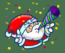 Animated Cute Santa Claus sticker #12909426