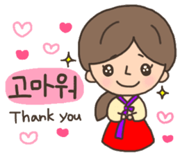 Cute! Korea girls stiker(English) sticker #12909856