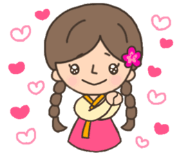 Cute! Korea girls stiker(English) sticker #12909877