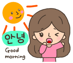 Cute! Korea girls stiker(English) sticker #12909880