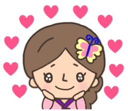 Cute! Korea girls stiker(English) sticker #12909885