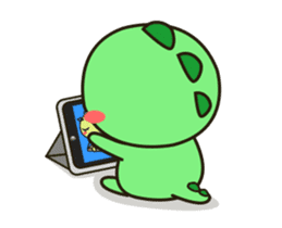 Kawaii Dino Animated 2 sticker #12911405