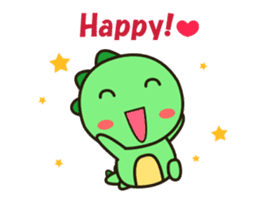 Kawaii Dino Animated 2 sticker #12911412