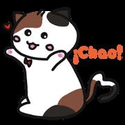 สติ๊กเกอร์ไลน์ Calico cat -Spanish ver. (everyday life)