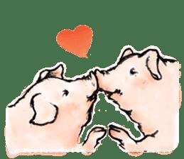 pig's life sticker in spanish sticker #12911534