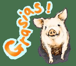 pig's life sticker in spanish sticker #12911535