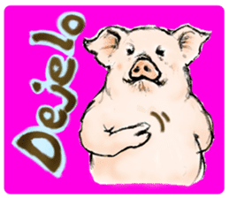 pig's life sticker in spanish sticker #12911536
