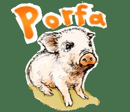 pig's life sticker in spanish sticker #12911537